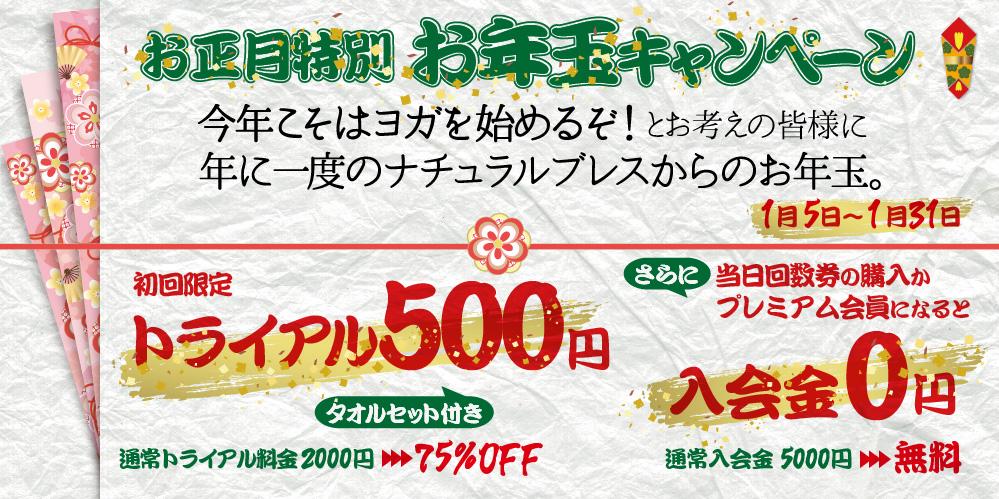 お年玉キャンペーン トライアル500円